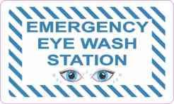 Picture Emergency Eye Wash Station Vinyl Sticker