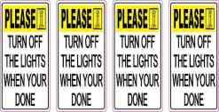Turn off Lights Vinyl Stickers