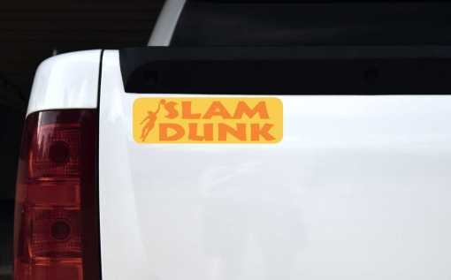 Slam Dunk Basketball Vinyl Sticker