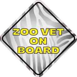 Zoo Vet on Board Magnet