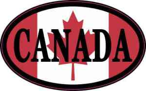 Flag Oval Canada Vinyl Sticker
