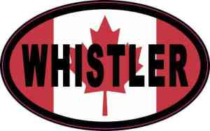 Oval Canadian Flag Whistler Vinyl Sticker