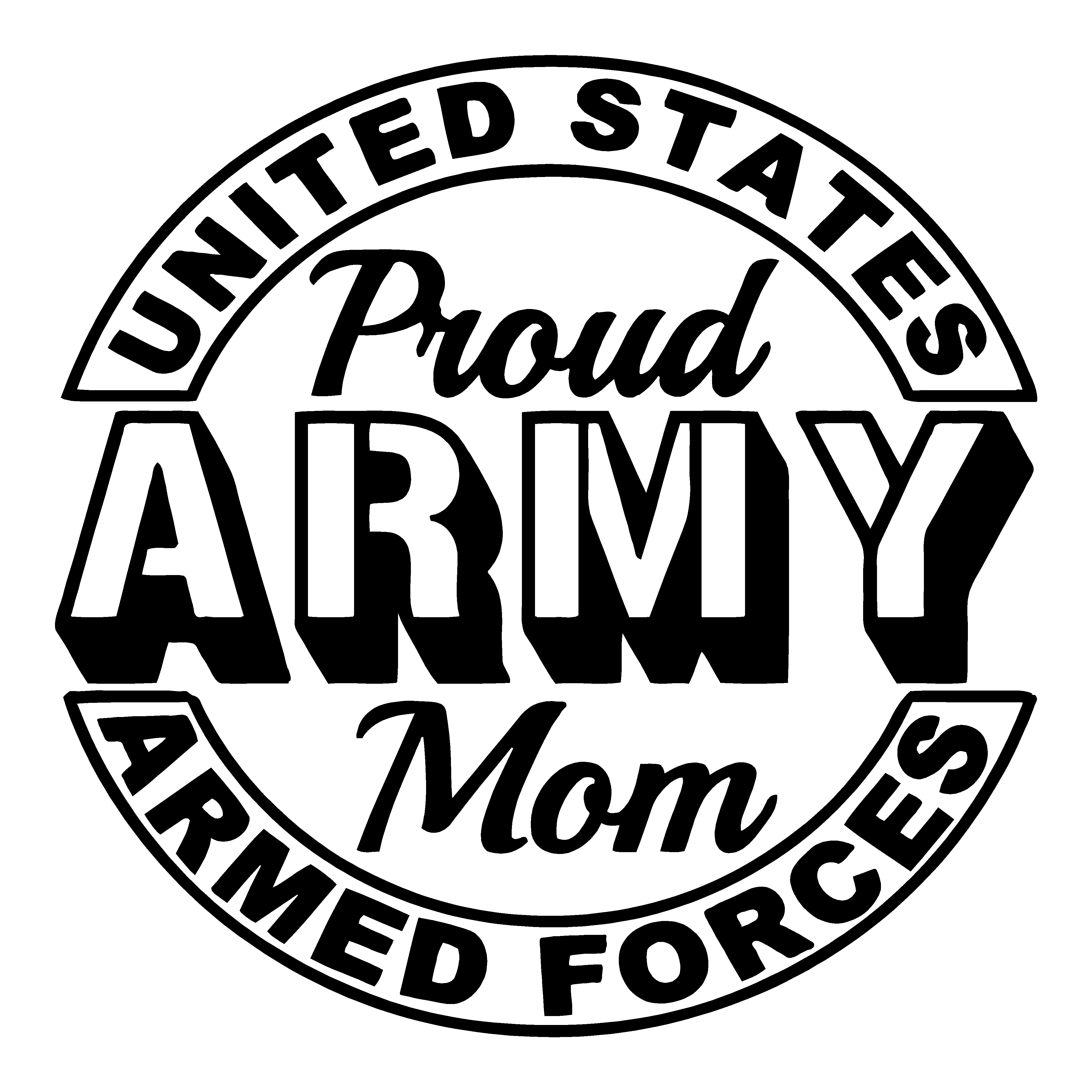 Proud Army Mom Stickers