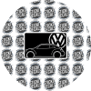 VW Airbag Label Warning Cover 12up Beetle