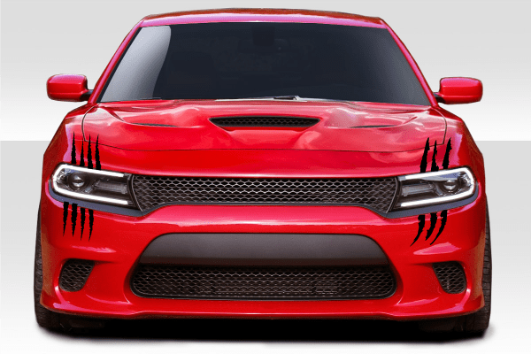 Dodge Charger Claws Tear Rip Headlight