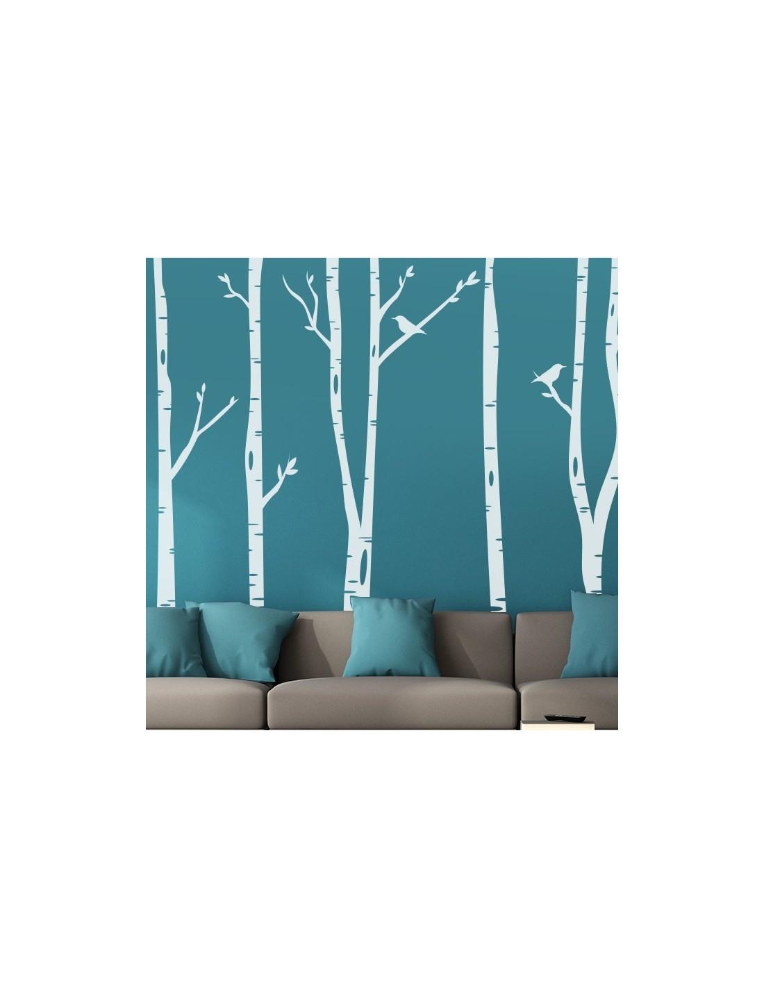 sticker decoration murale foret arbre