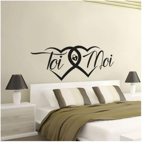 sticker decoration toi et moi stickers muraux tete de lit pas cher