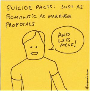suicide pacts vs. marriage proposals