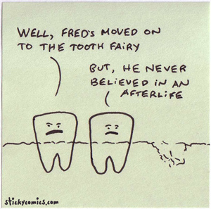 the tooth fairy is the afterlife for teeth