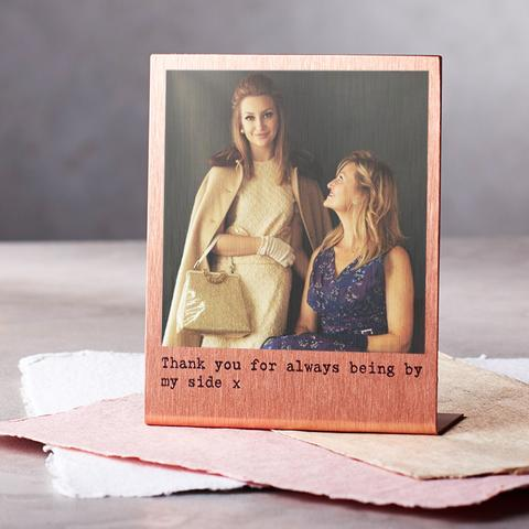 personalised gifts. Copper polaroid frame