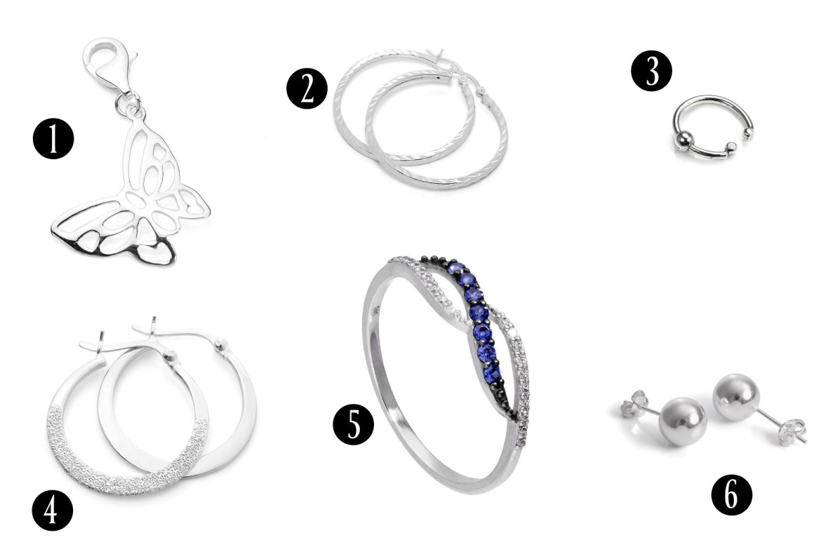 Cheap women's jewellery from jewellerybox. High quality rings, earrings and charms.