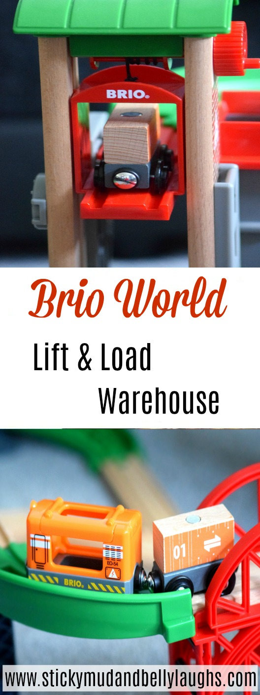 Brio World Lift and Load Warehouse review. #toyreview #kidstoys #woodentoys #trainsets #playsets
