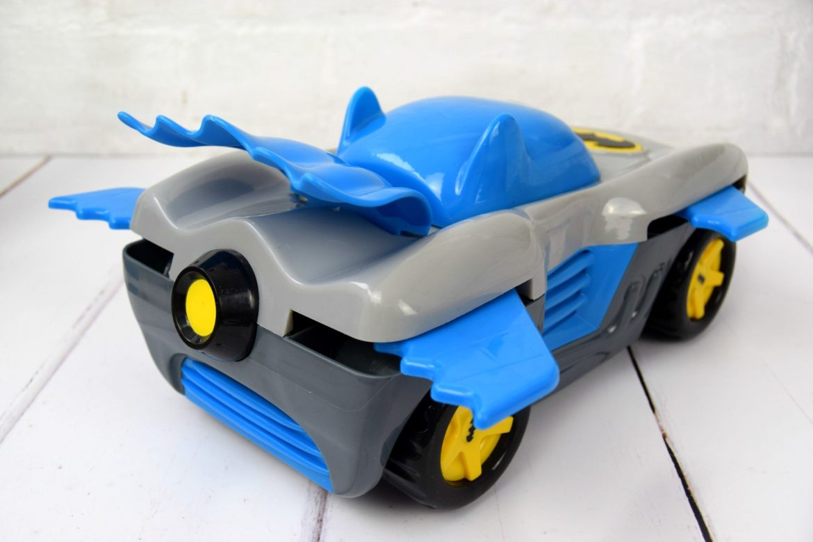 Herodrive Bat Racer toy batman car with wings.