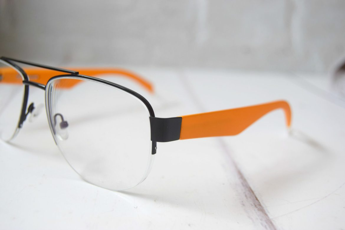 bright orange matte interchangeable glasses from ichoose