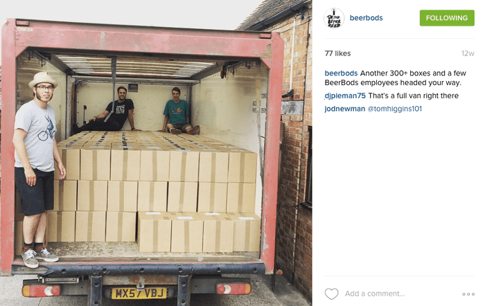 Beerbods instagram lorry.