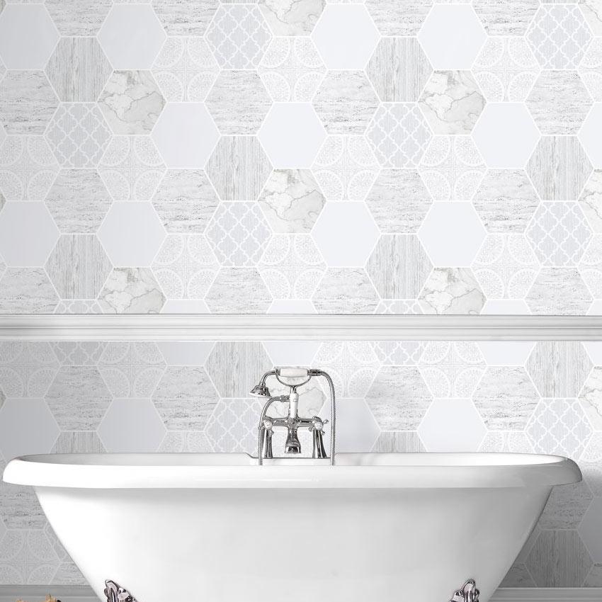 texture effect hexagon tile wallpaper g b hexagonal marble wallpaper