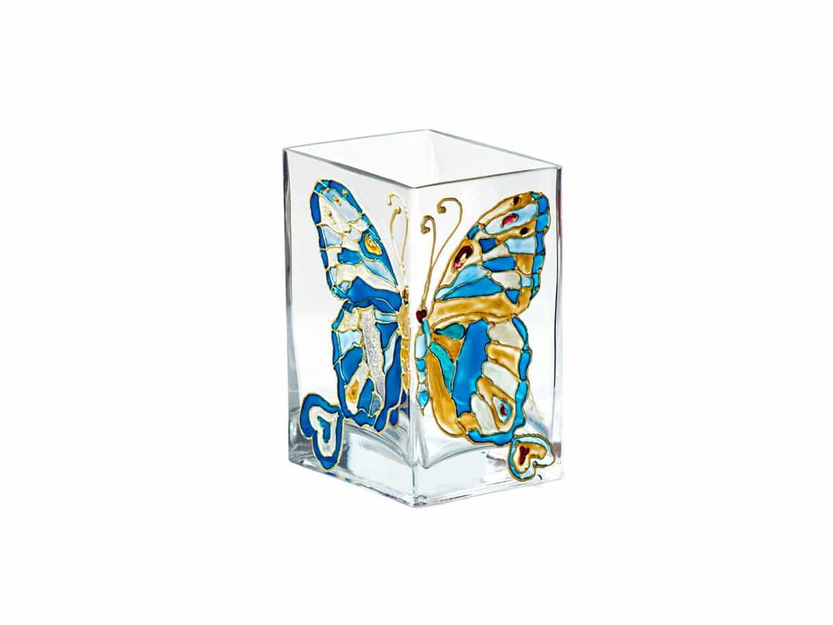 Vaza cu fluturi indragostiti albastri
