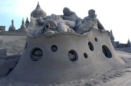 Wilfred Stijger sand sculpture