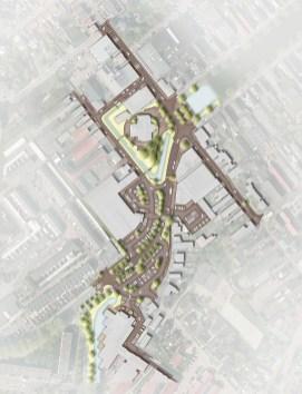 P:51611, Gem. Binnenmaas - 's Gravendeel - centrumplanAutocad