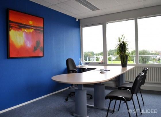 blauw kantoor in Capelle na STIJLIDEE Kleuradvies, Interieuradvies en Styling