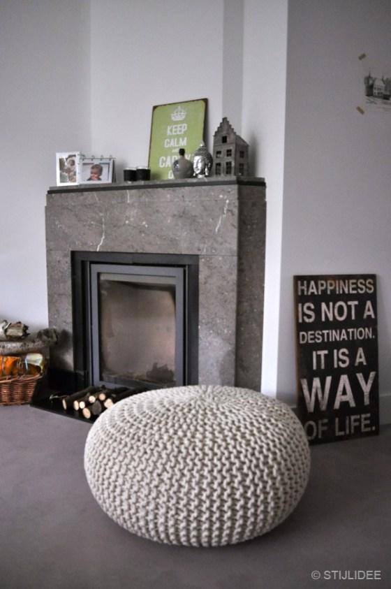 Jaren 30 hoekschouw van natuursteen na STIJLIDEE Interieuradvies en Styling