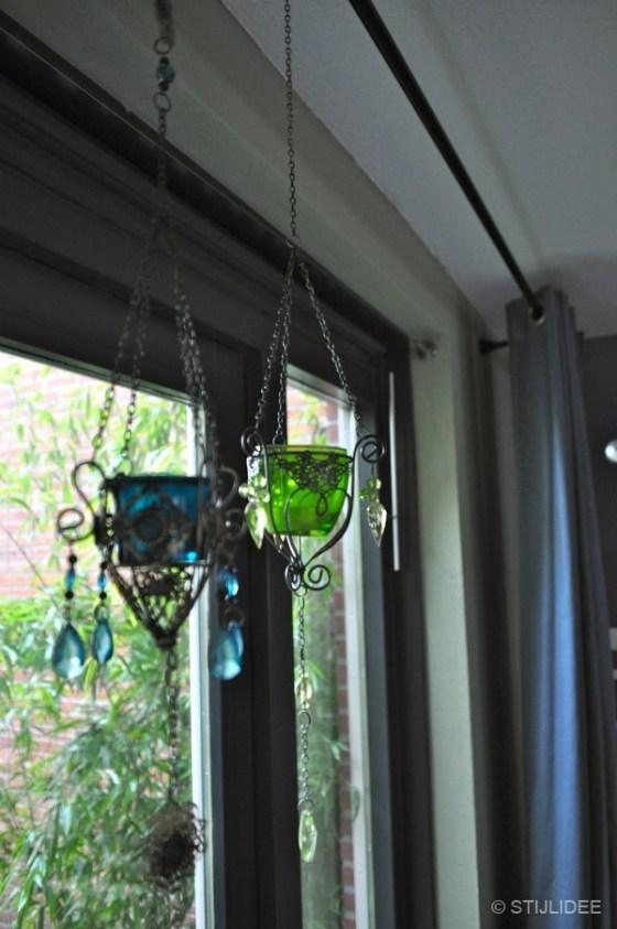 glazen waxinelichten n woonkamer Vleuten na STIJLIDEE interieuradvies