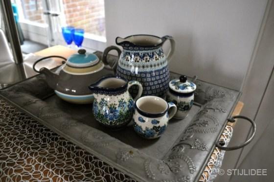 blauw wit servies na STIJLIDEE interieuradvies en styling