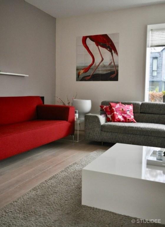 Binnenkijken in ... een woonkamer met eethoek in moderne design stijl in Leidsche Rijn na STIJLIDEE Interieuradvies en Styling