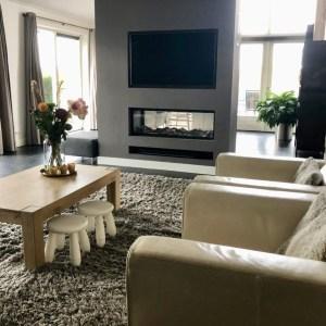 Binnenkijken in ... een woning in Vleuten met een roomdivider haard na STIJLIDEE Interieuradvies, Kleuradvies en Styling