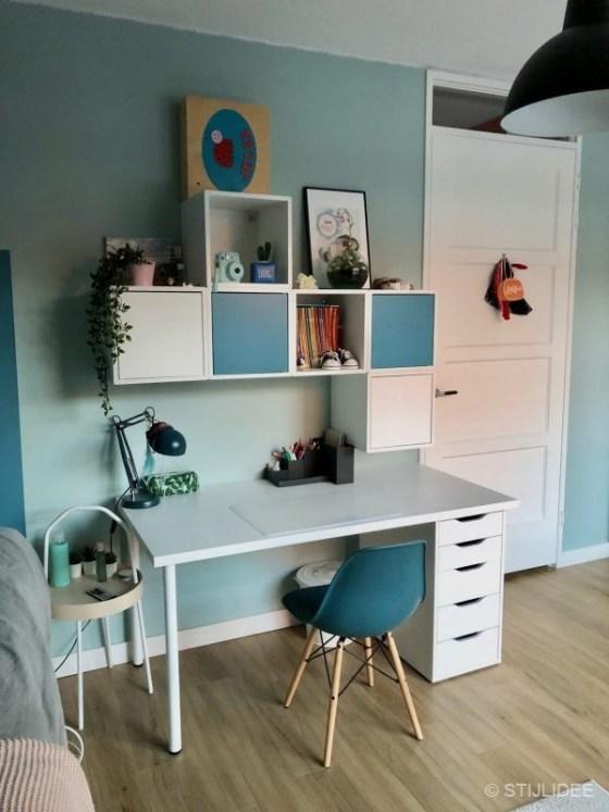 Binnenkijken in ... een tienerkamer met opbergbed in Utrecht na STIJLIDEE Interieuradvies, Kleuradvies en Styling