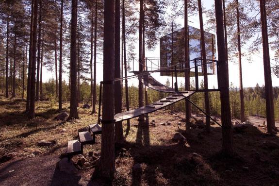 Mirror Cube Boomhut Treehotel Zweden