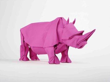 Stijlmagazine-sipho_mabona-origami rhino_magenta