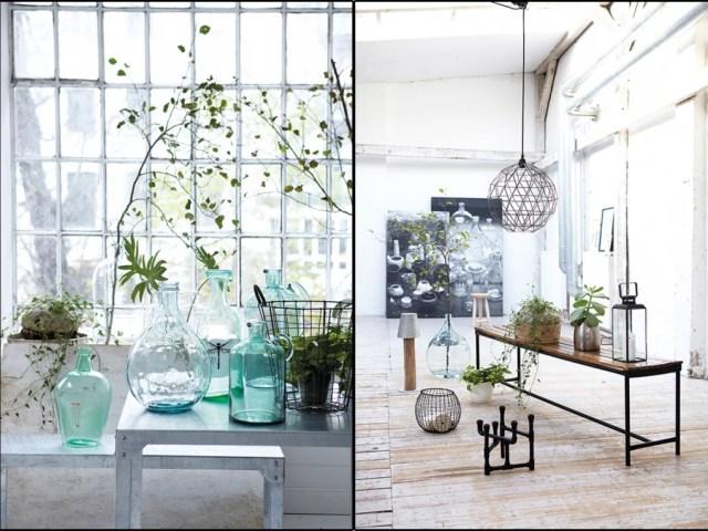 Interieur | Trend | Vazen, kruiken & flessen van gekleurd glas #hkliving #housedoctor #bloomingville