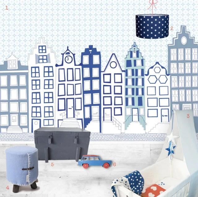 Interieur & Kids | Babykamer & kinderkamer in Delfs blauw