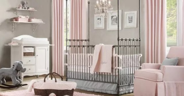 Interieur kids baby en kinderkamer inspiratie voor kleine prinsessen balletdanseressen - Kinderkamer grijs en roze ...