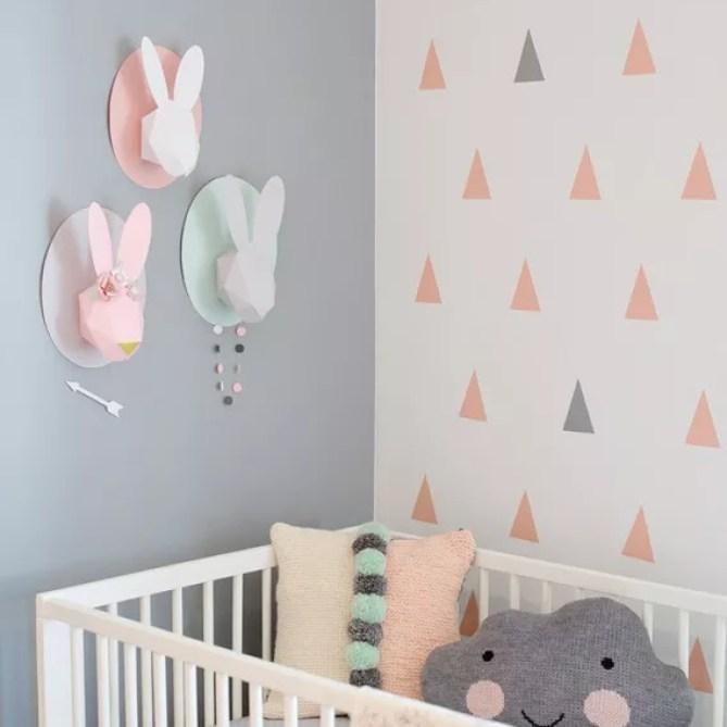 Interieur & kids | Hippe babykamer in pastel
