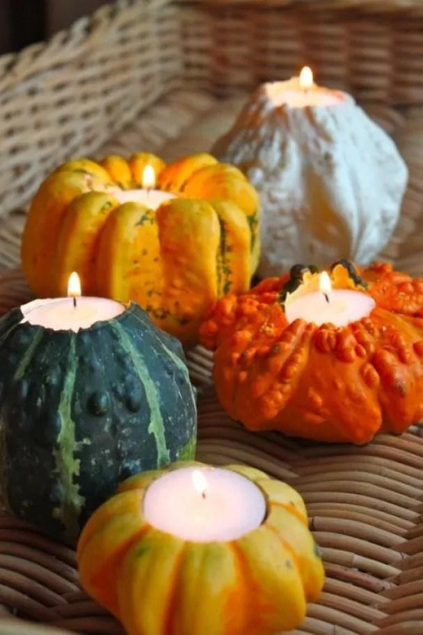 Wonen seizoenen herfst decoratie met pompoenen en for Herfst decoratie