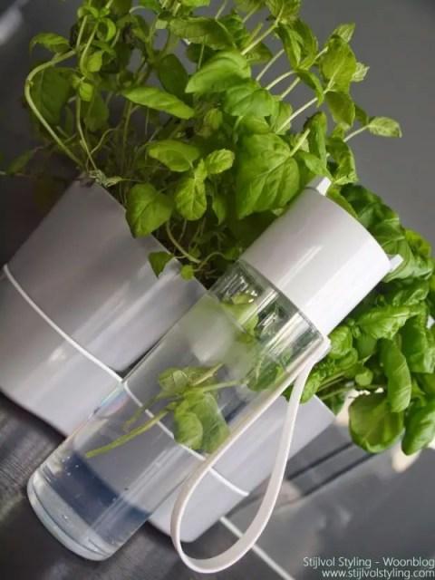 Interieur   Rosti Mepal Hydro herbs twin en JustWater - review #woonblog #interieurblog #keuken #inspiratie #rosti #mepal #kruiden #review - www.stijlvolstyling.com