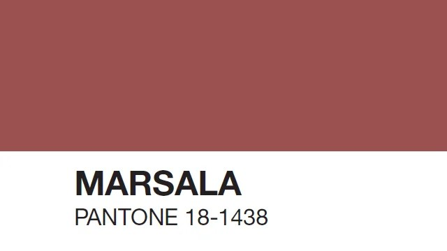 Marsala - Pantone kleur van het jaar 2015-
