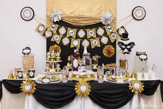Oud en Nieuw feest decoratie - beeld: classycluter