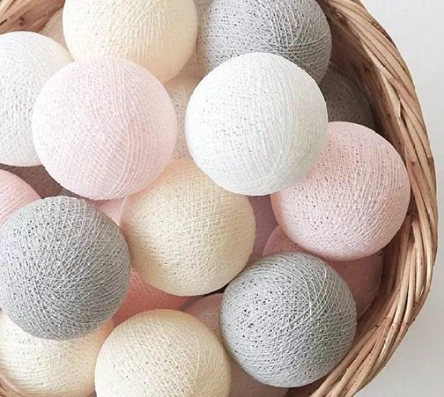 Cottonball lights - Stijlvol Styling woonblog www.stijlvolstyling.com