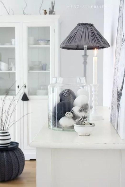 feestdagen paas decoratie inspiratie in zwart wit. Black Bedroom Furniture Sets. Home Design Ideas