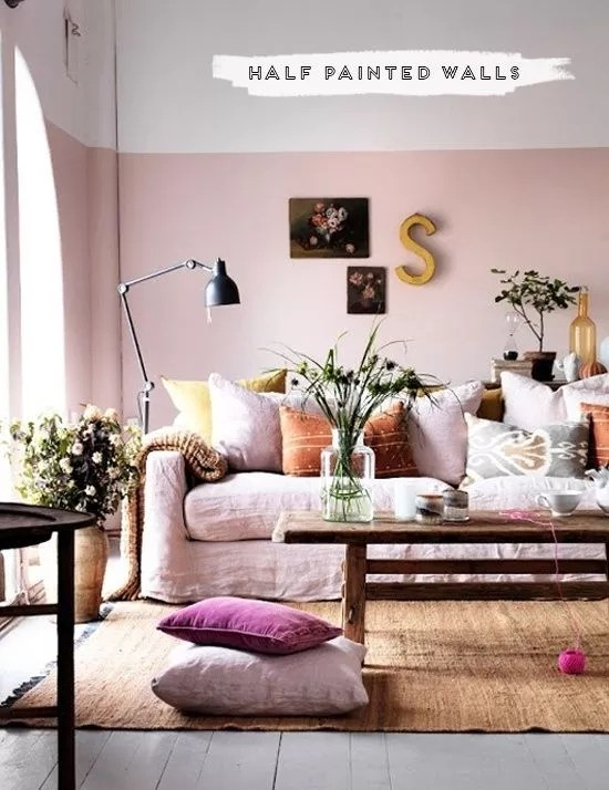 Interieur | Driekwart en halve muren schilderen - Stijlvol Styling woonblog www.stijlvolstyling.com