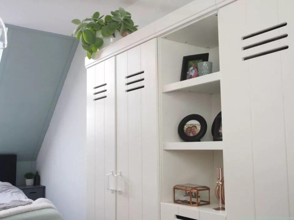 © Woonblog - StijlvolStyling.com | Ontwerp & styling SBZ Interieur Design | Slaapkamer kleuren Early Dew & Urban Taupe van Flexa Creations #Flexanl #interieuradvies #kleuradvies #woonblog
