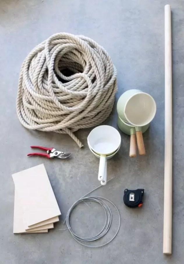 Groen wonen | DIY Macramé roomdivider voor je planten - Woonblog StijlvolStyling.com