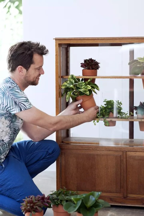 DIY | Van kastje naar planten kastje - Woonblog StijlvolStyling.com (Urban jungle vintage do it yourself with Peperomia)