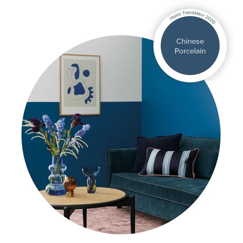Woontrends 2020   Chinese Porcelain = Histor Kleur van het Jaar 2020 - Beeld: Histor / PPG