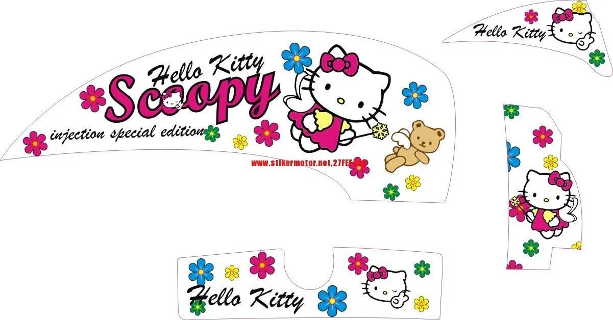 Honda Scoopy Hello Kitty Stikermotor Net Customize Without Limit