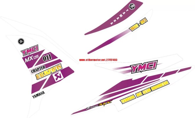 STRIPING MOTOR YAMAHA NEW MX YMCI BALIKPAPAN
