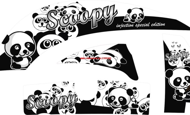 STRIPING MOTOR HONDA SCOOPY PANDA